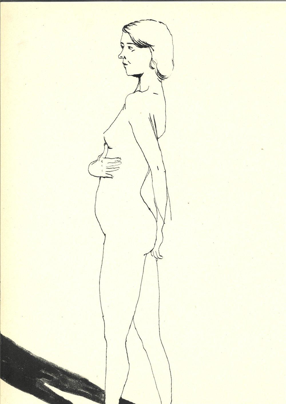 model inge  | inkt op papier