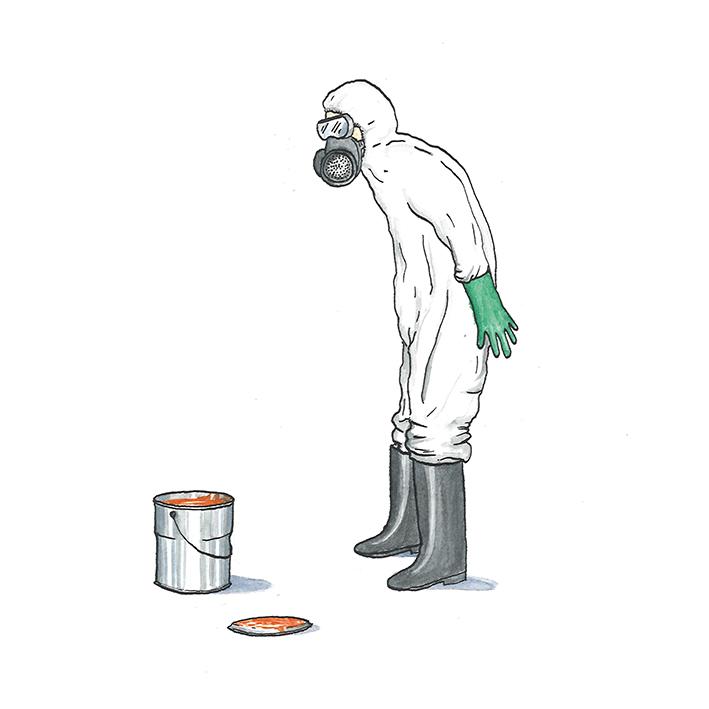 illustratie bij artikel  Latex, leemverf, lijnolie: één pot nat?  | inkt en waterverf, papiercollage