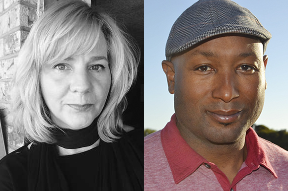 Lori Jakiela and T. Geronimo Johnson, the two winning authors of the 2016 William Saroyan International Prize for Writing, pull from personal and real-world experiences in their work. (Image credit: L. Jakiela; Elizabeth R. Cowan)