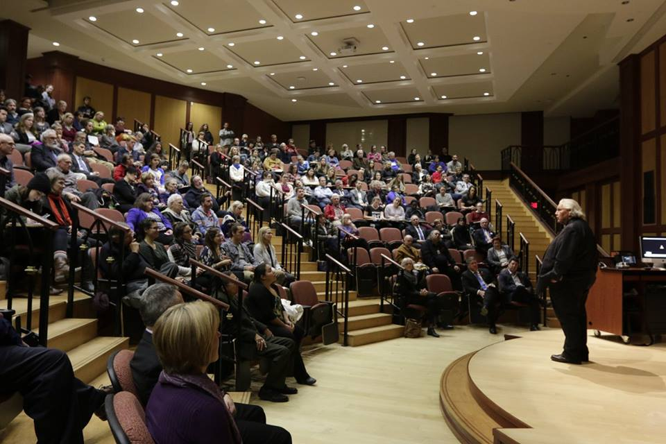 Senator Murray Sinclair addresses students, faculty and community members at his keynote in the schwartz auditorium on nov 8. Photo by: Blaise Macmullin