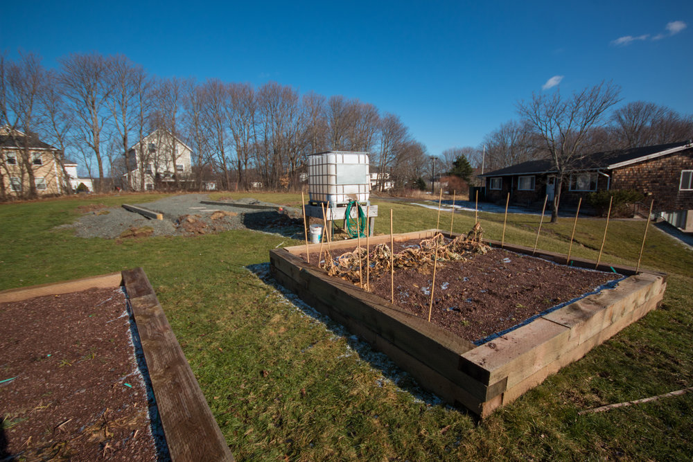 The Enactus and Student Food Resource Centre garden was relocated to the West Street property after being displaced by the expanded Lane Hall Parking lot.