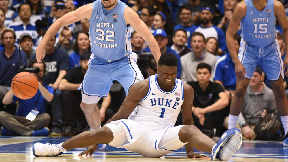 Zion blows through his PG2.5 basketball shoe / Photo: cbssports.com