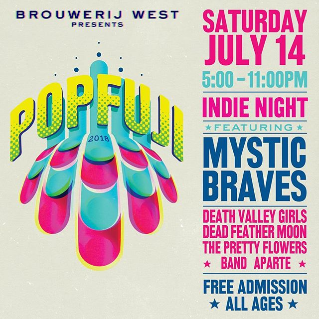 SATURDAY JULY 14TH  BROUWERIJ WEST LONG BEACH / SAN PEDRO FREE & ALL AGES @mystic_braves  @deathvalleygirls  @the_pretty_flowers  @paul_e_wog_e_wog . . . . #deadfeathermoon #rockmusic #craftbrewery #musicandbeer #livemusic