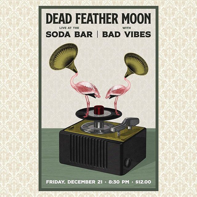 FRIDAY | DECEMBER 21ST @sodabarsd with @wearebadvibes Come celebrate your warm and sunny holiday season with us. 🎄 🎄 🎄 . . . . #deadfeathermoon #sodabar #badvibes #sandiegomusic #palmtreesaretheofficialchristmastreesofsandiego #doesanyonereadhashtags #ifyoudothencometothisshow #itwillbefun #imeaniguess #hashtagsfordays