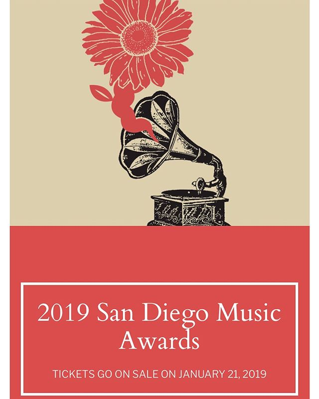 Wow, thanks for the nomination! Honored to be recognized and included in such an amazing group of local San Diego musicians. Party time. @sdmusicawards