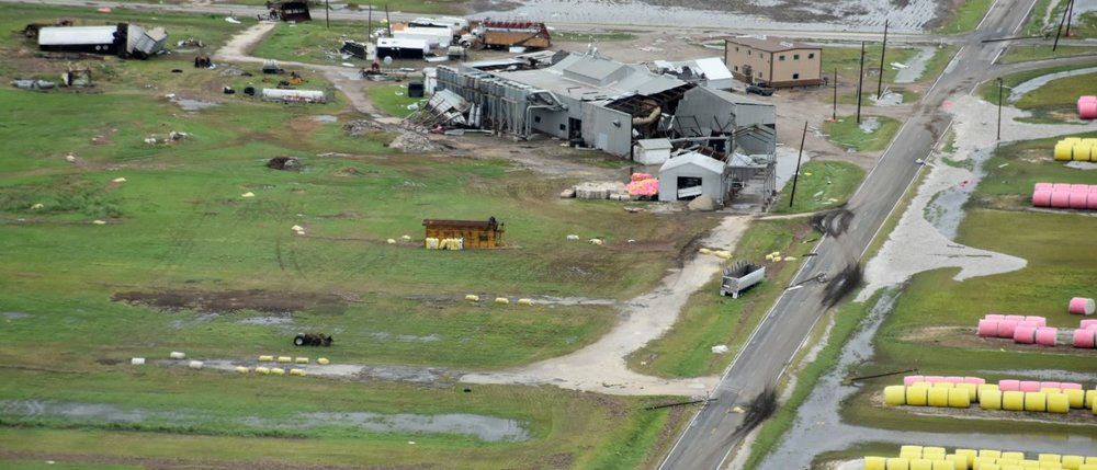 Refugio County, Texas farm destroyed by Hurricane Harvey. Photo: USDA