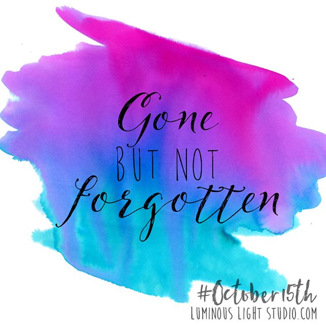 October is Pregnancy and Infant Loss Awareness month. Whether or not we are aware of it, we all know a woman who has miscarried. Many of us know someone who had a baby born sleeping. Take some time this month to send some love, ask some questions, and share the weight of these losses.