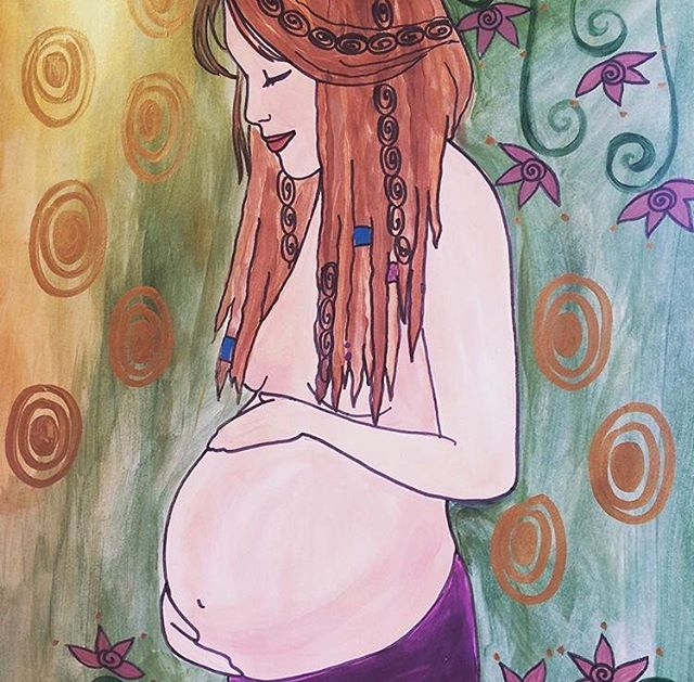 Pregnancy is beautiful and hard, amazing and terrifying. . . Art by @spiritysol