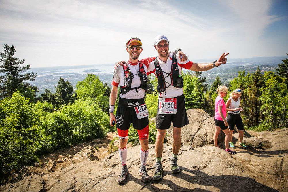 Foto: Sportograf  Team Flowrunners - Tom og Knut - på Vettakollen.