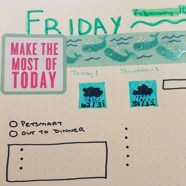 In progress Friday spread. #bulletjournal #bujo #daily