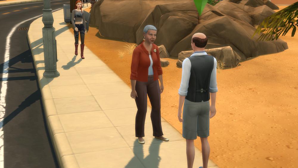 Salvador chats with Vivian.