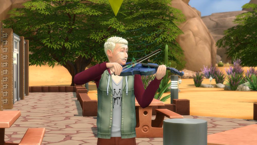 Violin at the park.
