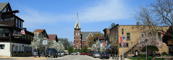 DownTown New Glarus Wisconsin