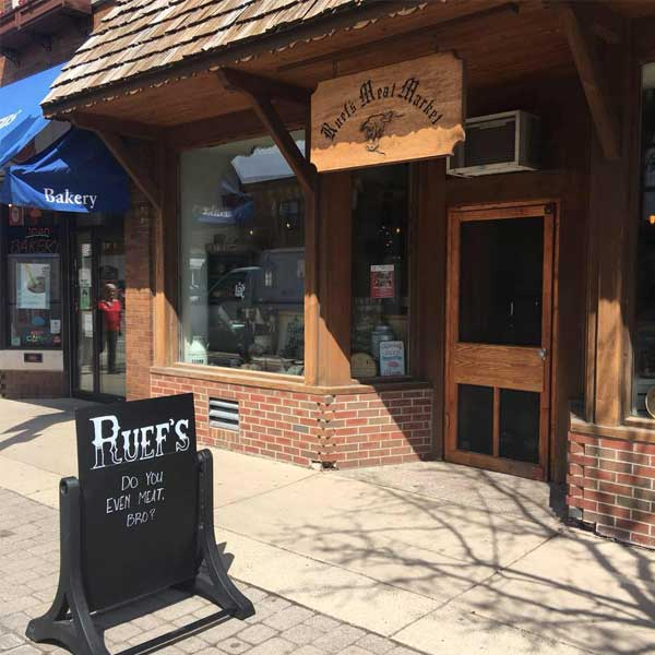 Ruef's Meat Market - Homemade Swiss Sausages   Wisconsin Cheese