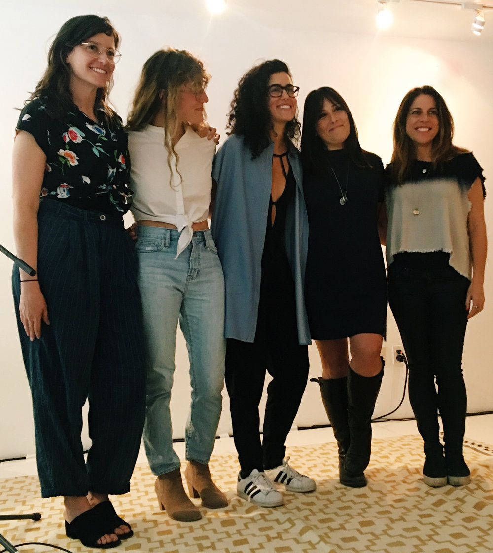 Cycles + Sex Founders (Lauren Bille, Ashley Spivak, and Natalia Hailes) with Ricki Lake and Abby Epstein