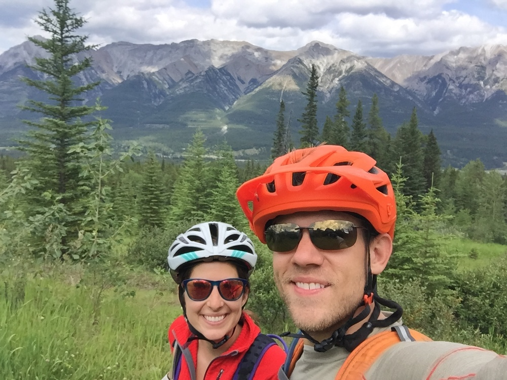 Biking at the Nordic Center in Canmore