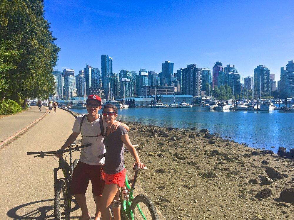 Cruising around the perimeter of Vancouver