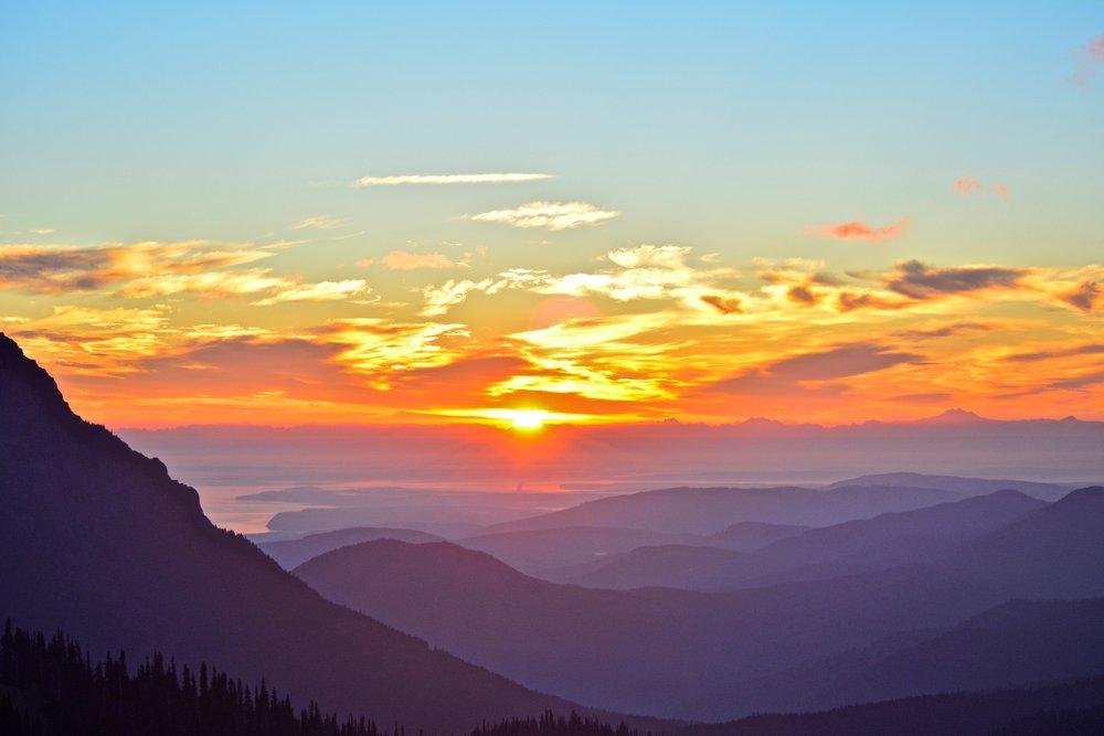 Sunrise on Hurricane Ridge, Olympic National Park