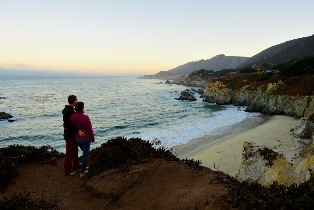 Looking out over the stunning views of Big Sur in the early morning hours