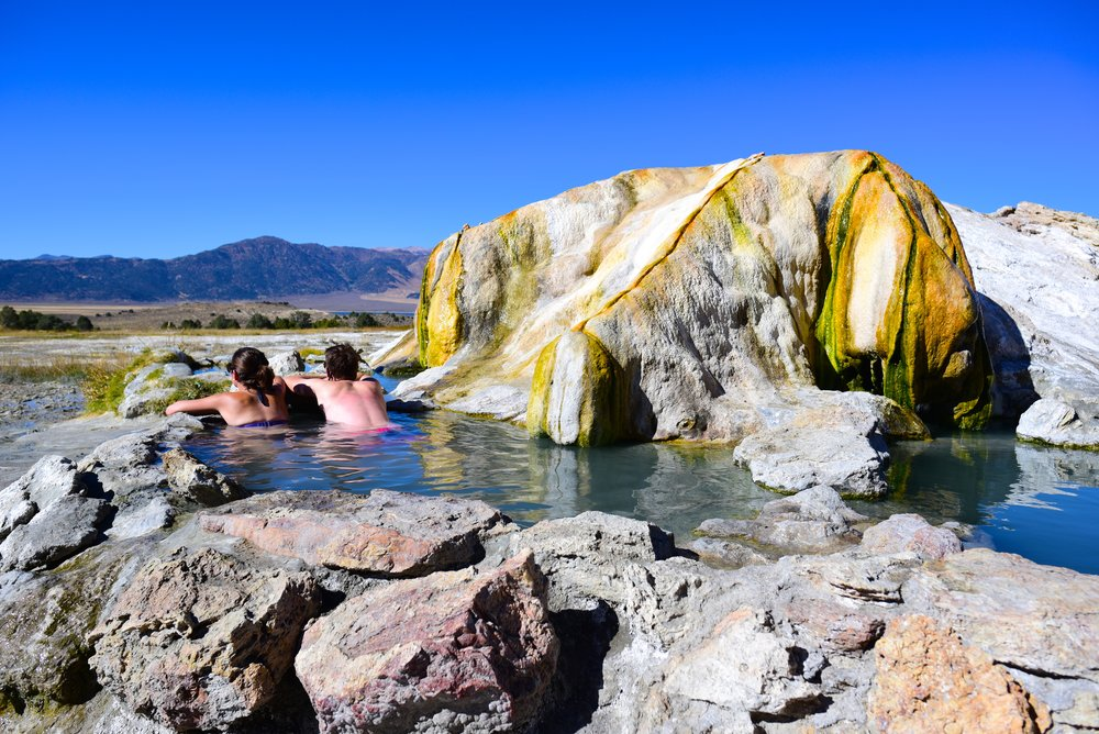 Soaking up the minerals and the views in Travertine Hot Springs