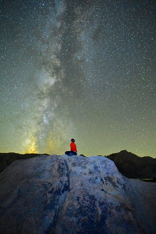Stargazing in the Alabama Hills