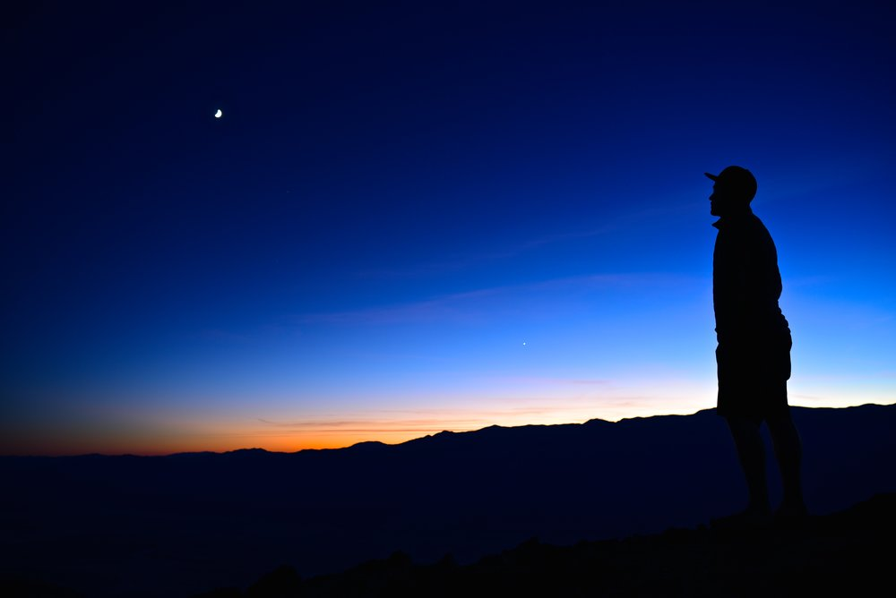 Incredible sunset from Dante's View in Death Valley