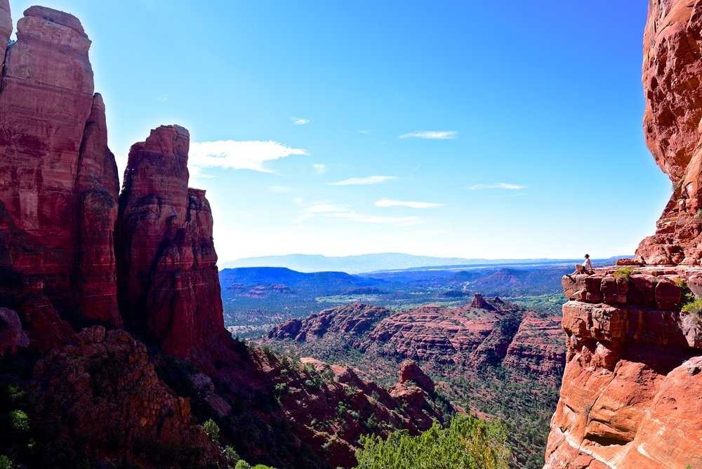Taking it all in from the top of Cathedral Rock