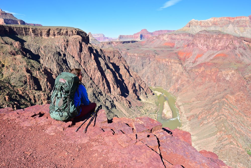 Taking a short break to view the Colorado down below