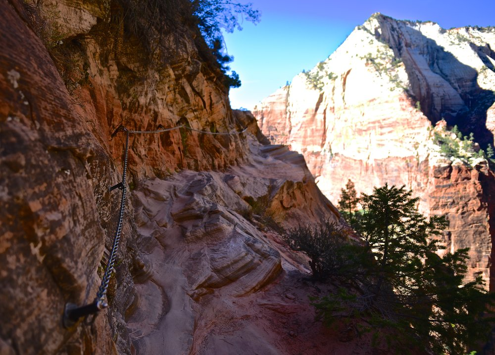 The chains up to Hidden Canyon