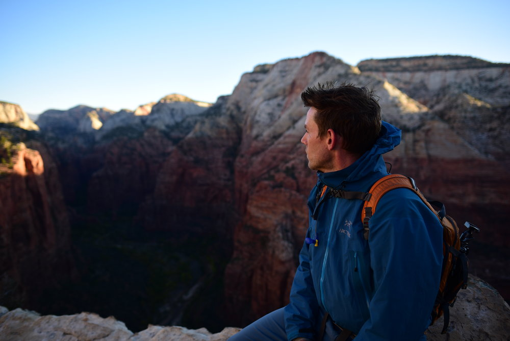 Angels Landing received its name because it was thought only an angel could land on top of it. Turns out this individual made it....not quite an angel, but close enough ;)