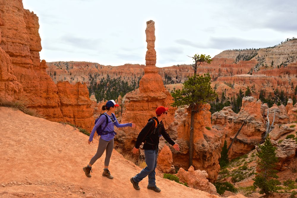 """This was our """"Abbey Road"""" reenactment in Bryce Canyon :)"""