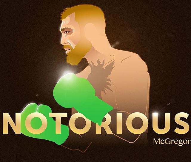 Just a couple weeks away. Do you have #mcgregor in this spectacle of a fight? I also finally found a use for the lens flare tool in #photoshop 🤣 . #illustration #graphicdesign #poster #wip #art #drawing #adobeillustrator #vector #mcgregorvsmayweather #boxing #ufc