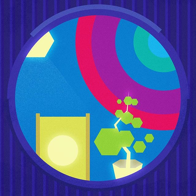 View from Room. 01  #illustration #graphicdesign #shape #color #minimal #vector #adobe #window #futuristic