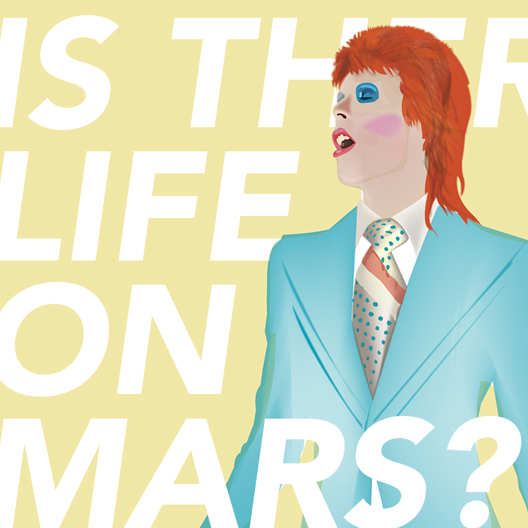 An illustration in honor of the great Bowie