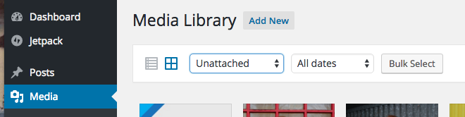 Unattached Media Library