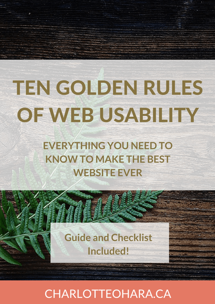 10 Rules of Web Usability make a better website