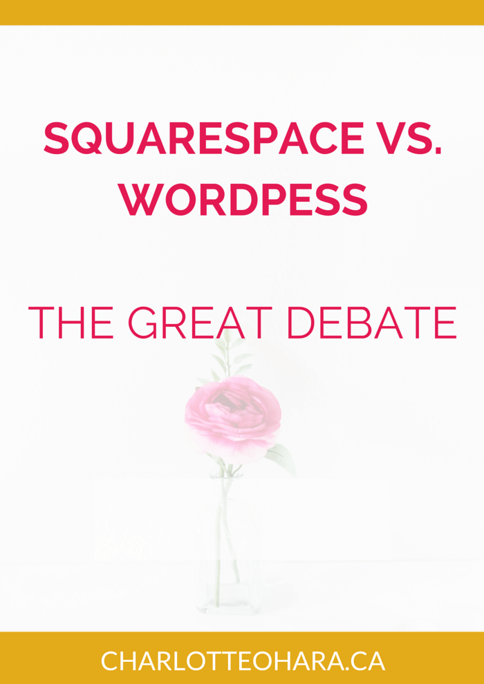 Squarespace Versus Website why you should choose Squarespace