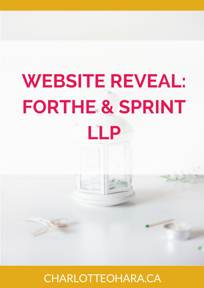 Website Reveal for Forthe & Sprint LLP