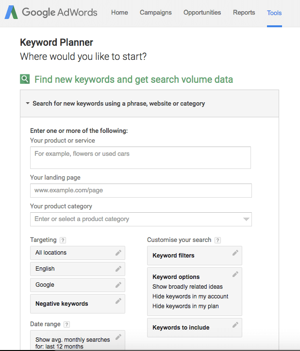 Google Adwords Keyword Planner | Squarespace SEO Blogging Tips