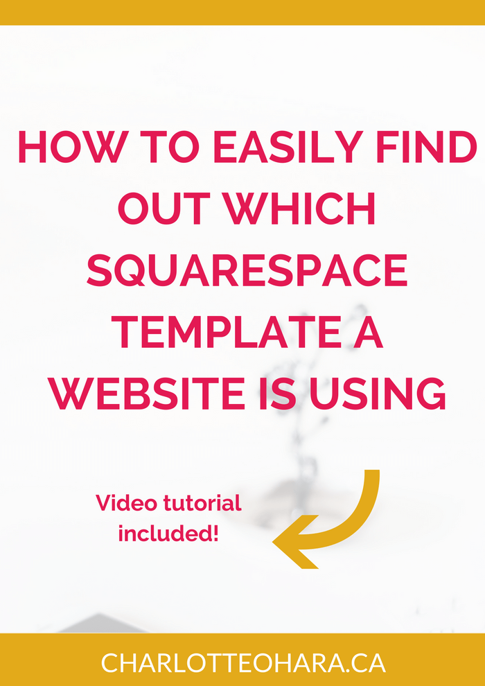 How to easily find out which Squarespace template a website is using | video tutorial
