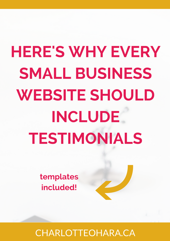 Why every small business website should include testimonials