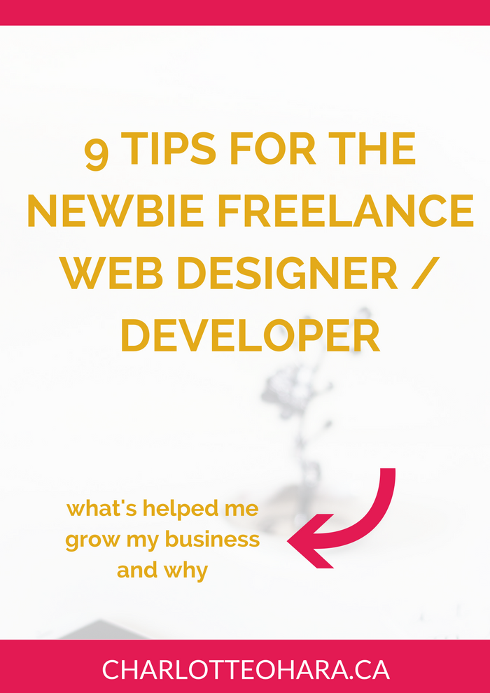 9 tips for the newbie freelance web designer / developer