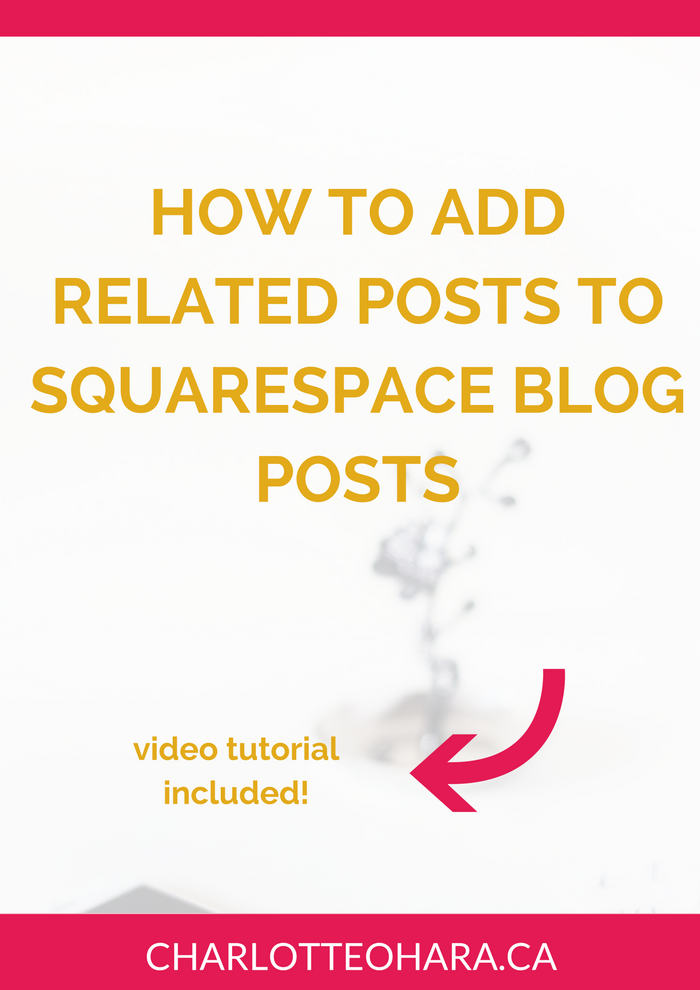 add related posts to squarespace blog posts | video tutorial