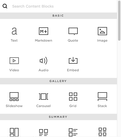 Carousel Summary Block Squarespace