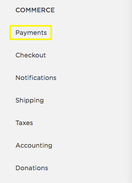 Setting up Squarespace Payment Processor