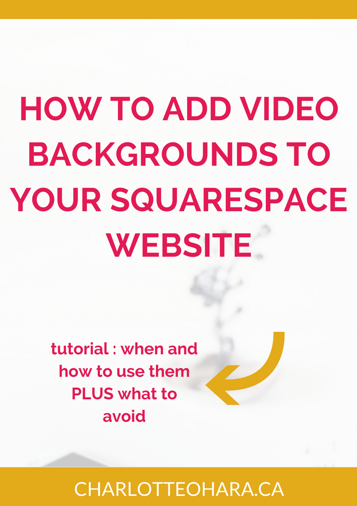 Squarespace how to add video background