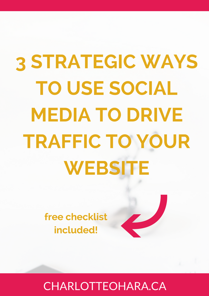 Drive traffic from social media to website