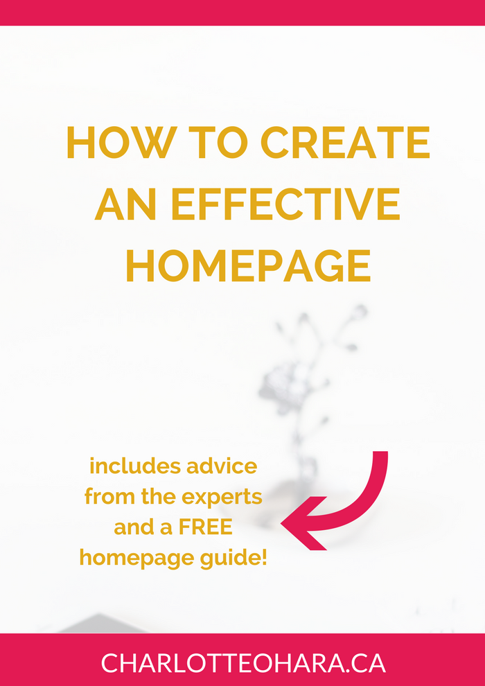 How to create an effective homepage for your website