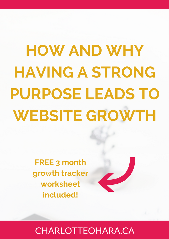 Strong purpose leads to website growth