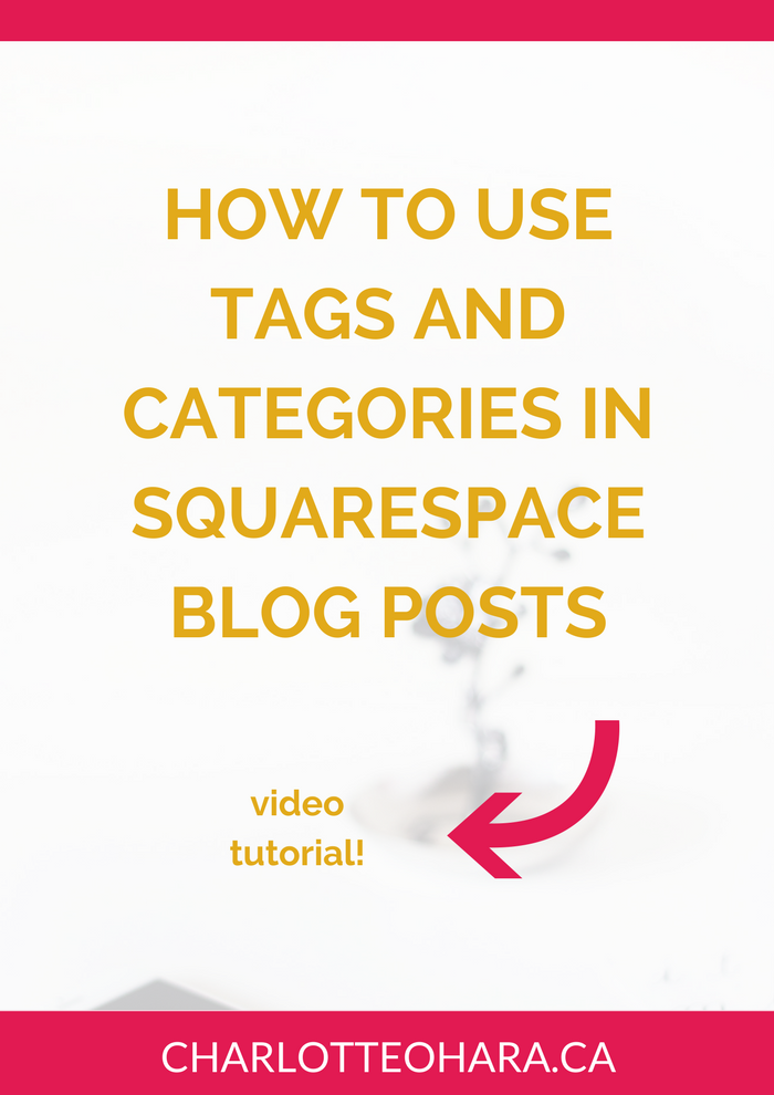 how to use tags and categories in squarespace blog posts